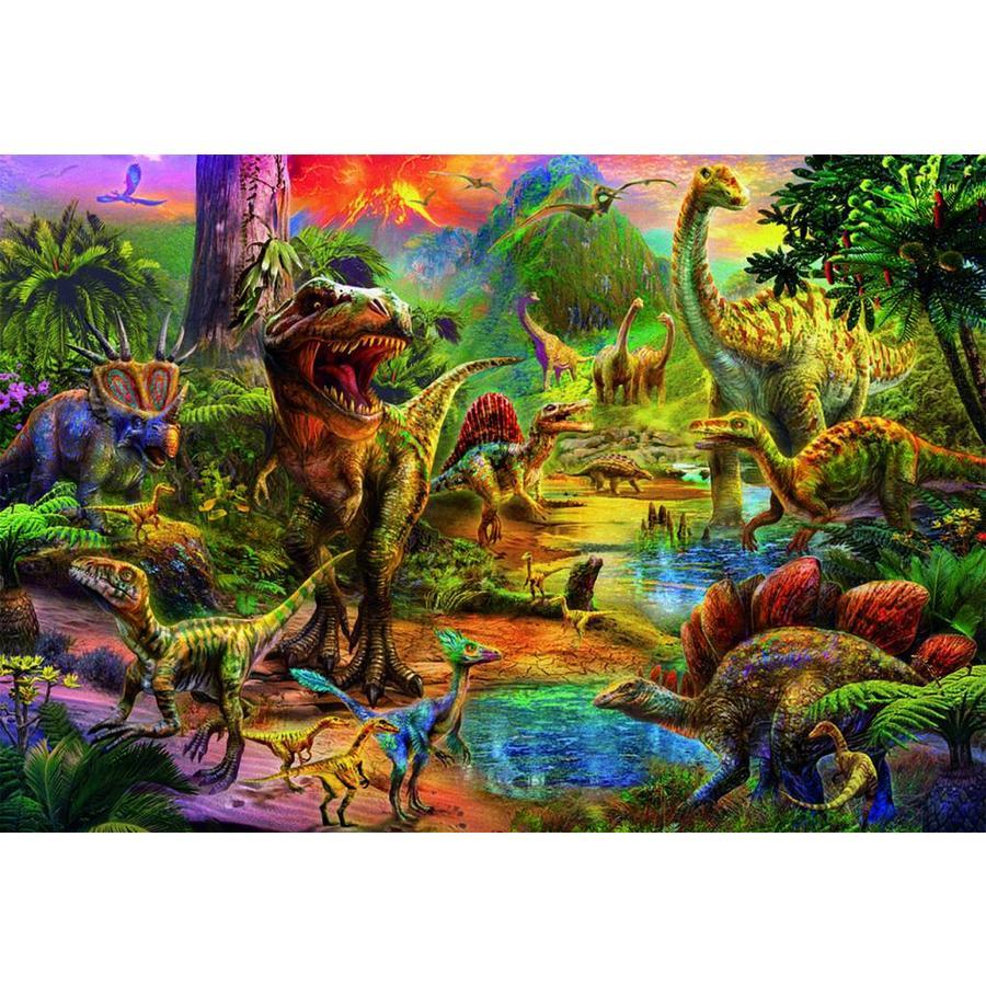 Het land van de dinosaurussen  - legpuzzel van 1000 stukjes-2