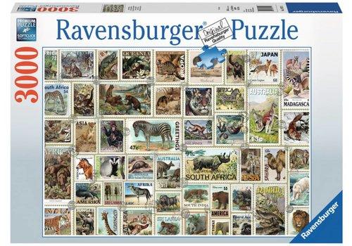 Dierenpostzegels - 3000 stukjes