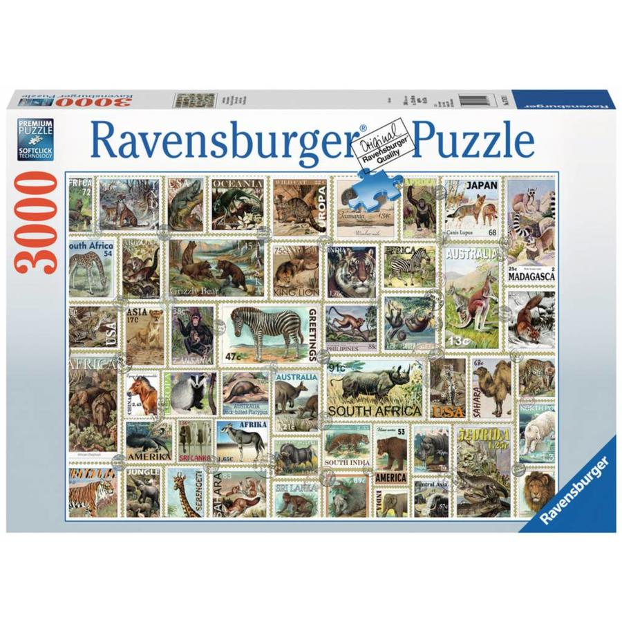 Ravensburger Animal Stamps - puzzle of 3000 pieces