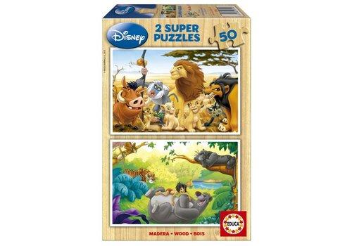 WOOD: Animal friends - 2 x 50 pieces