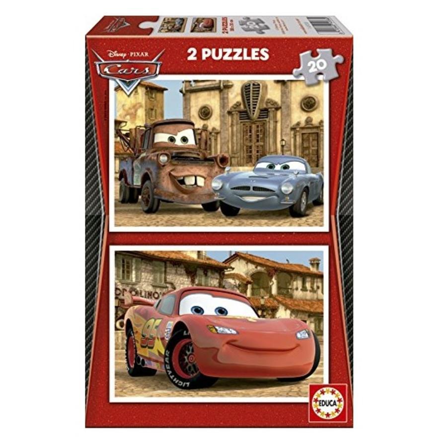 Cars in zicht - 2 x 20 stukjes-1
