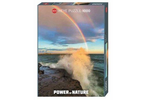 Regenboog op zee - 1000 stukjes