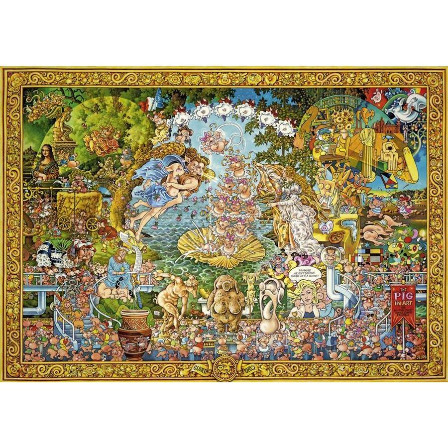 Varkens in de kunst - puzzel van 4000 stukjes-1