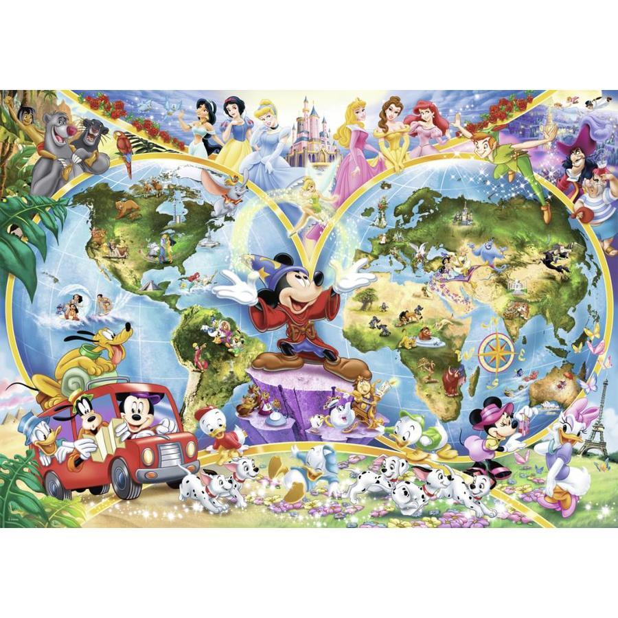 Disney's wereldkaart - puzzel van 1000 stukjes-2