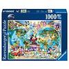 Ravensburger Disney's wereldkaart - puzzel van 1000 stukjes