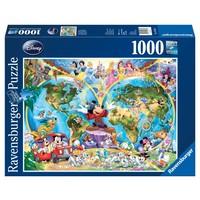 thumb-Disney's wereldkaart - puzzel van 1000 stukjes-1