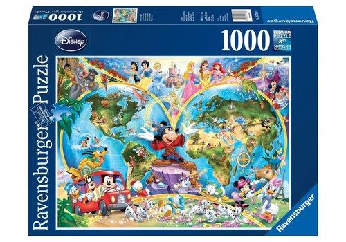 Disney's wereldkaart - 1000 stukjes