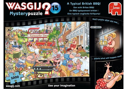 Wasgij Mystery 15 - A Typical British BBQ! -  1000 pieces