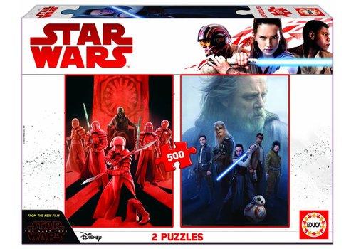 Star Wars - The Last Jedi - 2 x 500 stukjes puzzel