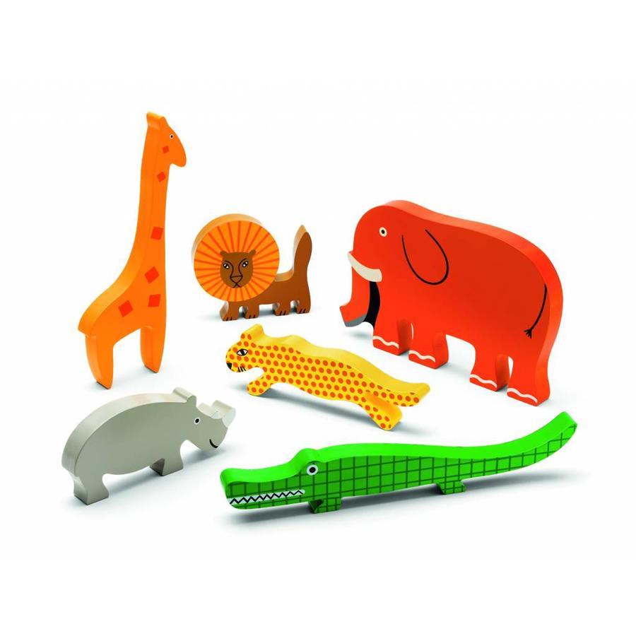 Gigantische wilde dieren puzzel - 11 stukjes-2