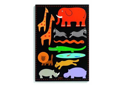 Gigantische wilde dieren puzzel - 11 stukjes