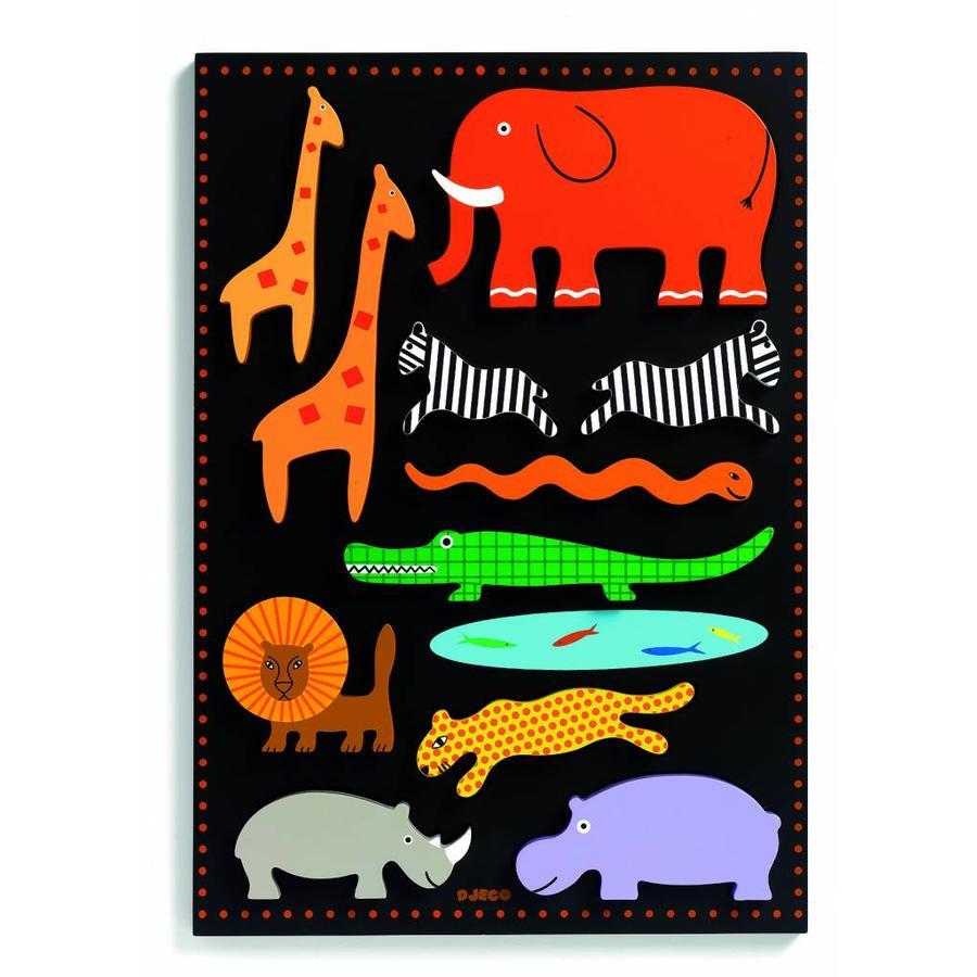 Gigantische wilde dieren puzzel - 11 stukjes-1