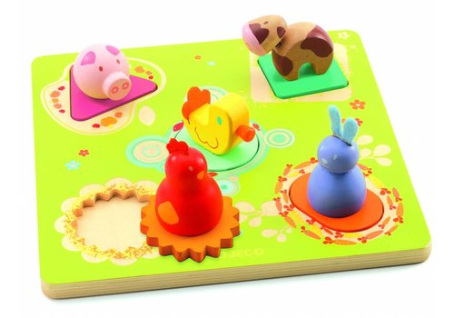 Funny animal shapes 'farm' - 5 pieces