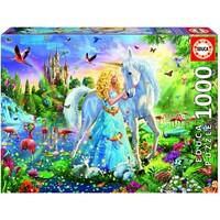 thumb-La princesse et la licorne - puzzle de 1000 pièces-1