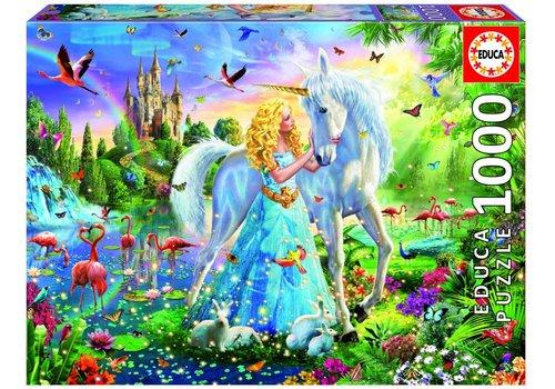 De prinses en de eenhoorn - 1000 stukjes