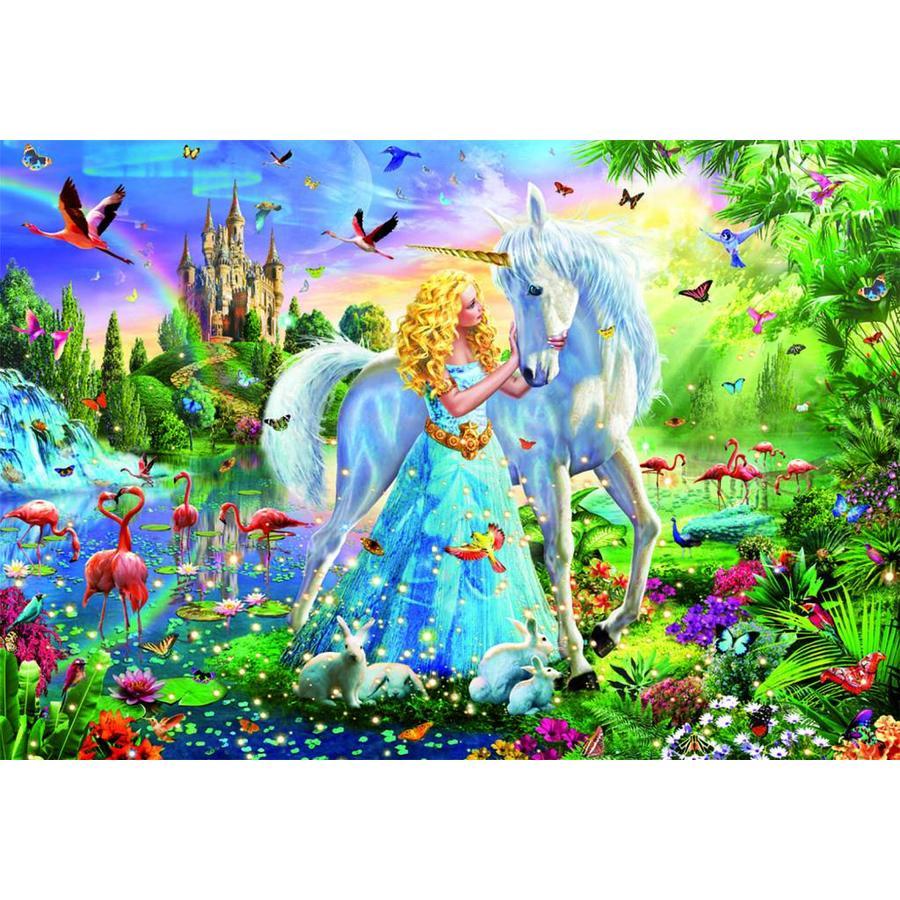 De prinses en de eenhoorn  - legpuzzel van 1000 stukjes-2