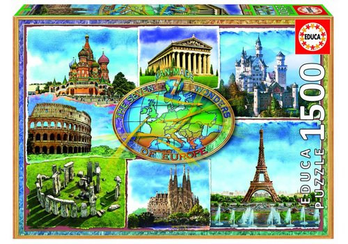 De 7 wonderen van Europa - 1500 stukjes