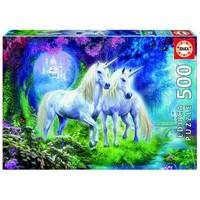 thumb-Licornes dans la Forêt - puzzle de 500 pièces-2