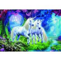 thumb-Licornes dans la Forêt - puzzle de 500 pièces-1