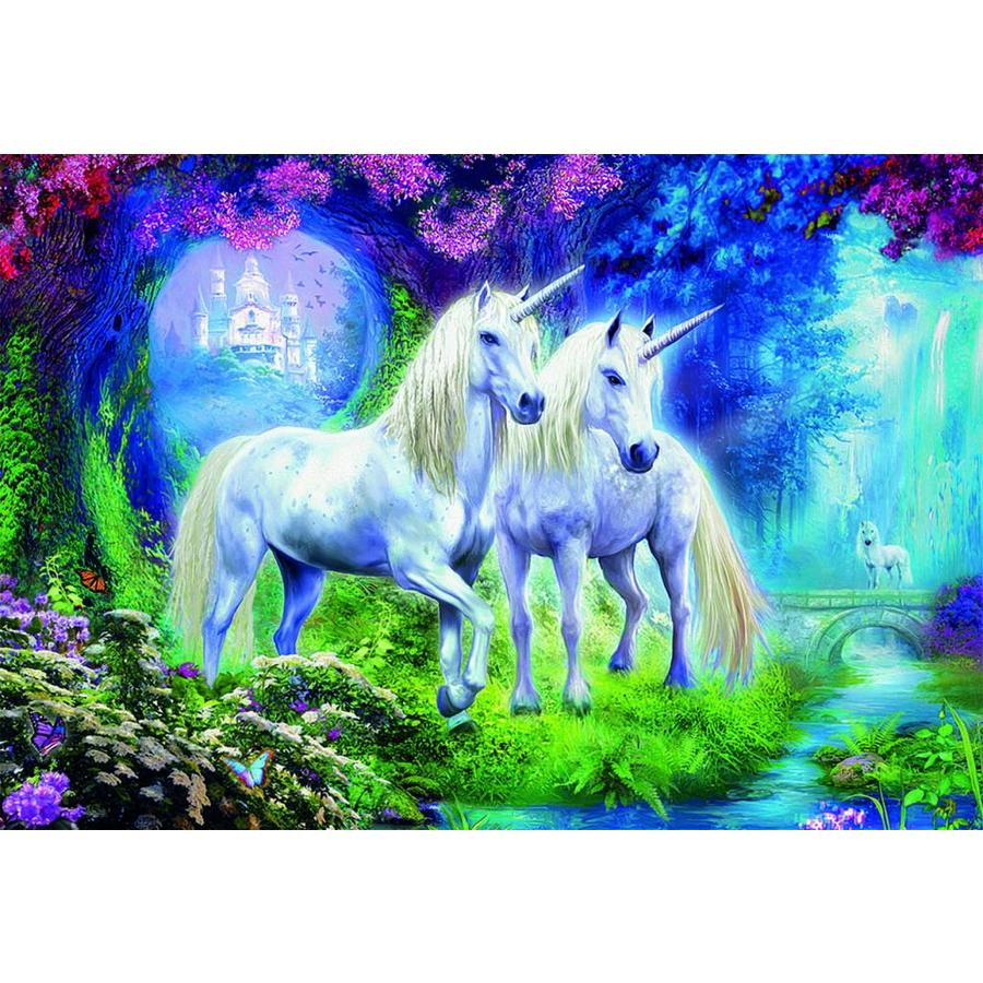 Unicorns in the forest  -  jigsaw puzzle of 500 pieces-1