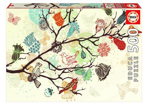 Grafische bloemen - 500 stukjes