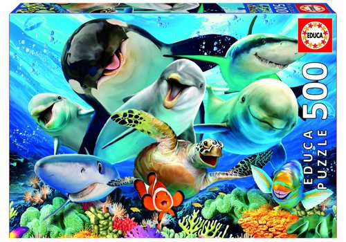 Educa Selfie onder water - 500 stukjes