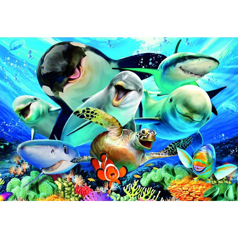 Selfie onder water - legpuzzel van 500 stukjes-2