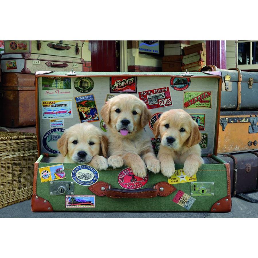 Puppies in de koffer - legpuzzel van 500 stukjes-2