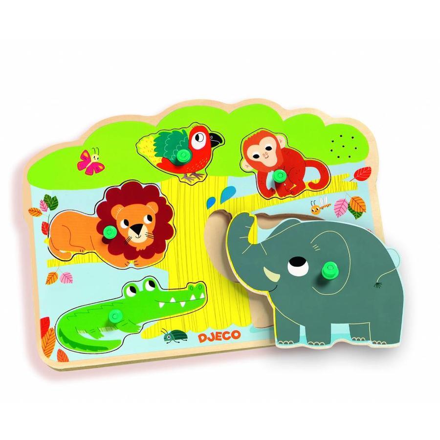 Geluidenpuzzel - de Zoo - 5 stukjes-1