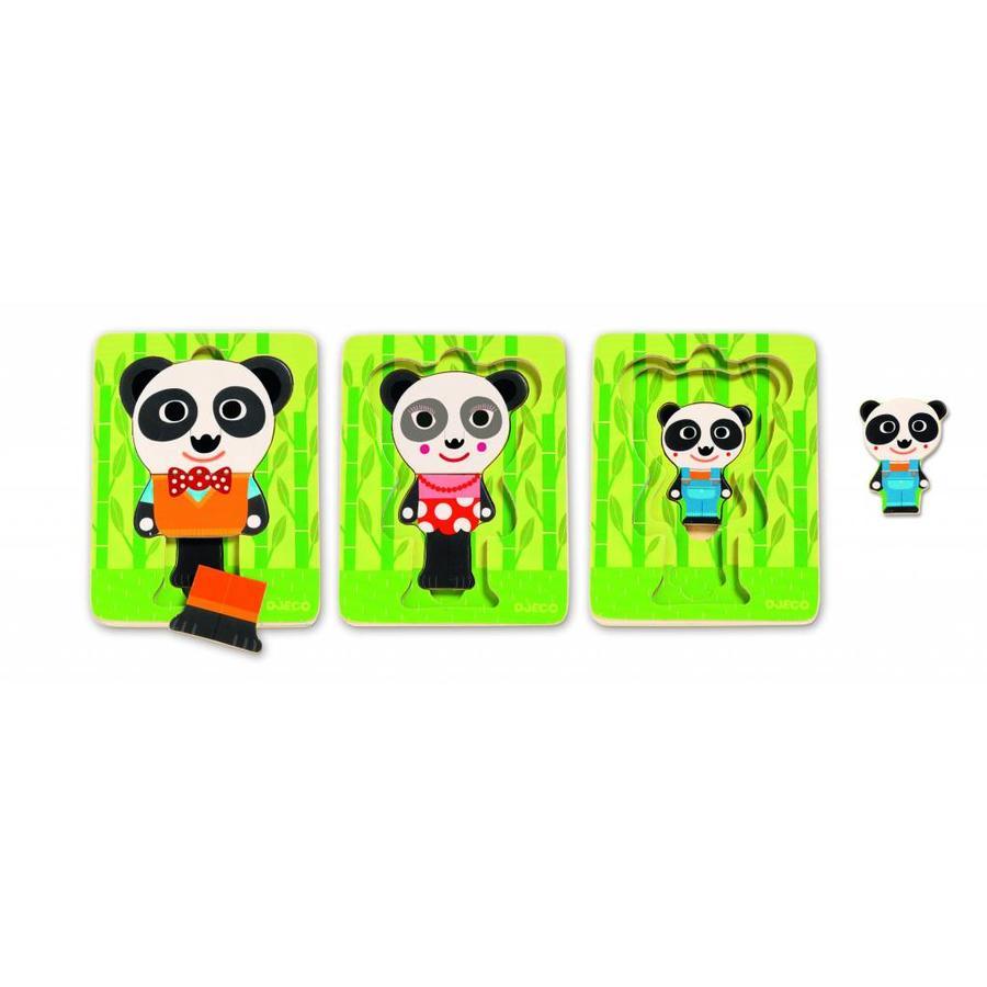 Laagjespuzzel - Panda - 6 stukjes-2