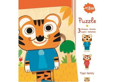 Load Puzzle - Tiger - 6 pieces