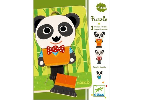 Djeco Laagjespuzzel - Panda - 6 stukjes