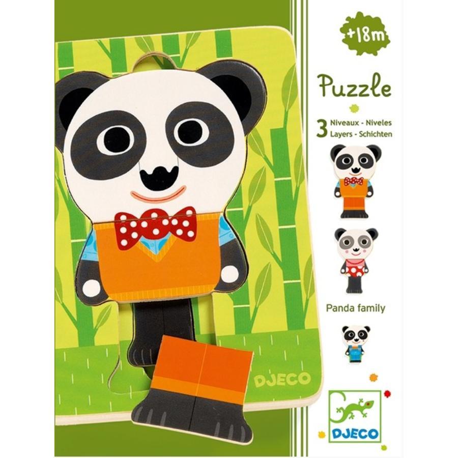 Laagjespuzzel - Panda - 6 stukjes-1