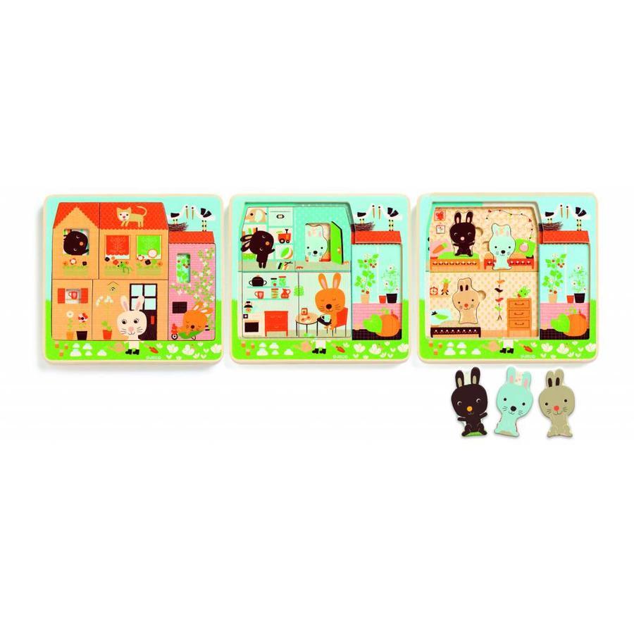 Skim maison Puzzle pleine de vie - 12 pièces-3