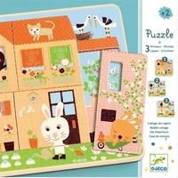 thumb-Laagjespuzzel Het huis vol leven - 12 stukjes-1