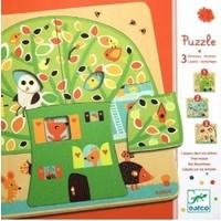 thumb-Laagjespuzzel - Boom vol leven - 12 stukjes-1
