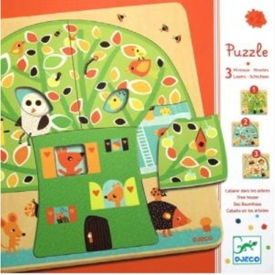 Laagjespuzzel - Boom vol leven - 12 stukjes-1