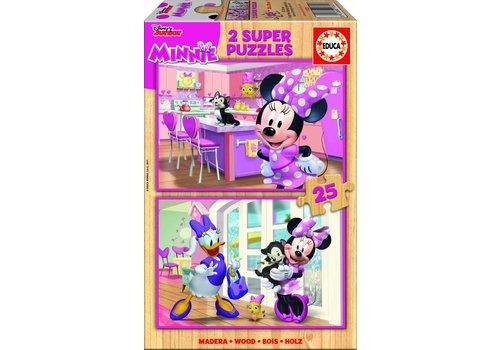 Educa BOIS: Disney Minnie - 2 x 25 pièces