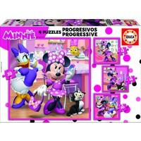 4 puzzles des Minnie Mouse - 12, 16, 20 et 25 pièces