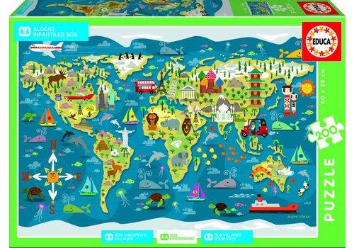 Carte du Monde - 200 pièces