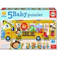 School bus - puzzle of 19  pieces