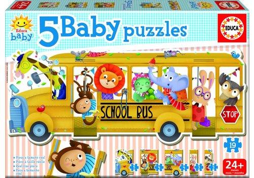 Schoolbus - puzzel van 19 stukjes