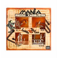 thumb-Mania Puzzels - Oranje - 4 metalen breinbrekers in doos-1