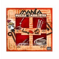 thumb-Mania Puzzels - Rood - 4 metalen breinbrekers in doos-1