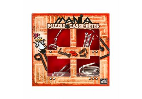 Eureka Mania Puzzles  - Rouge - 4 casse-têtes métalliques dans la boîte