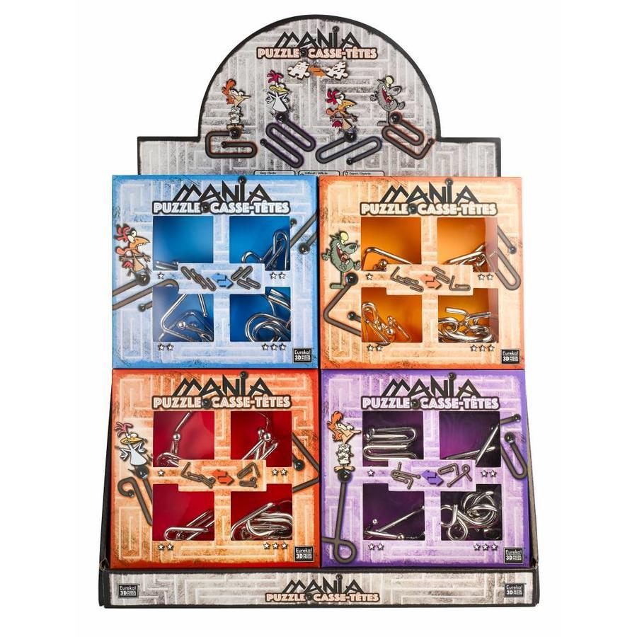 Mania Puzzels - Paars - 4 metalen breinbrekers in doos-6