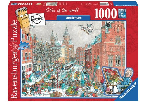 Amsterdam in de sneeuw - Fleroux - 1000 stukjes