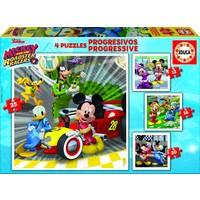 4 puzzles des Mickey Mouse - 12, 16, 20 et 25 pièces