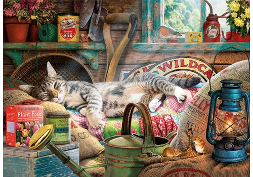 Snoozing in the shed - 1000 pieces