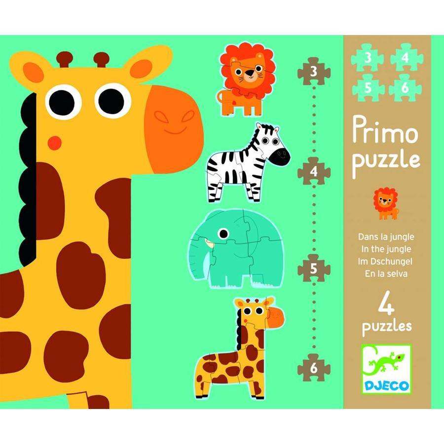 Diertjes uit de zoo - 4 puzzels - 3, 4, 5 en 6 stukjes-1